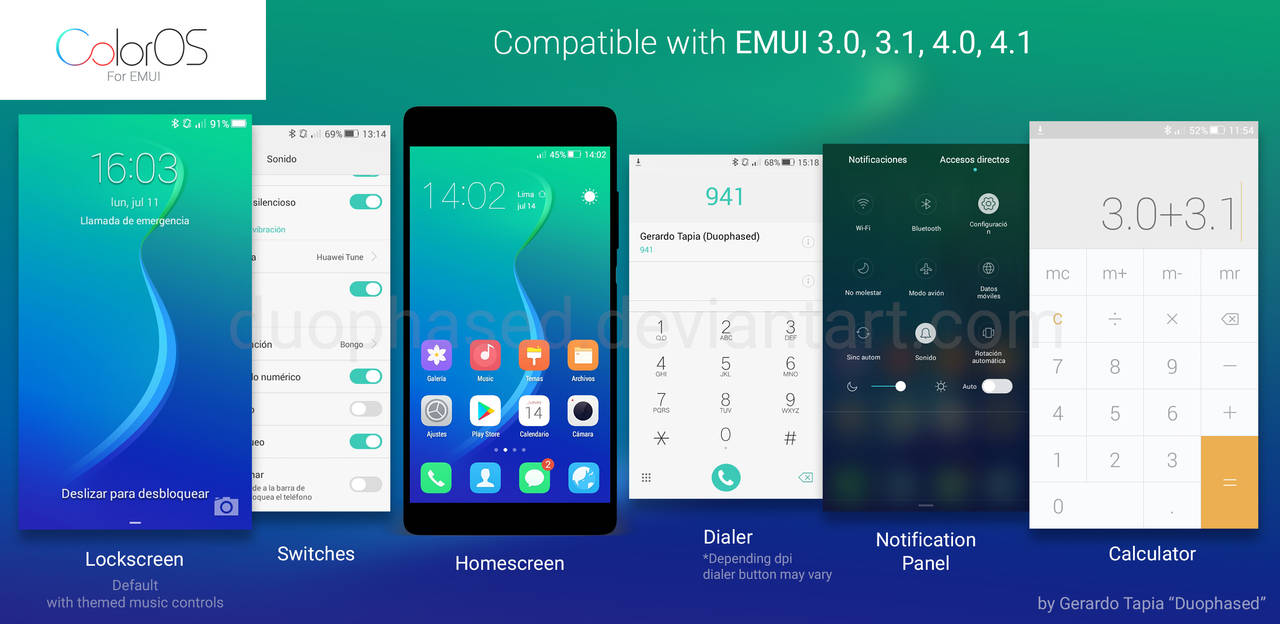 Color OS theme for EMUI by Duophased on DeviantArt