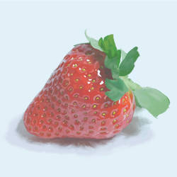 Strawberry in hiperrealism, part1