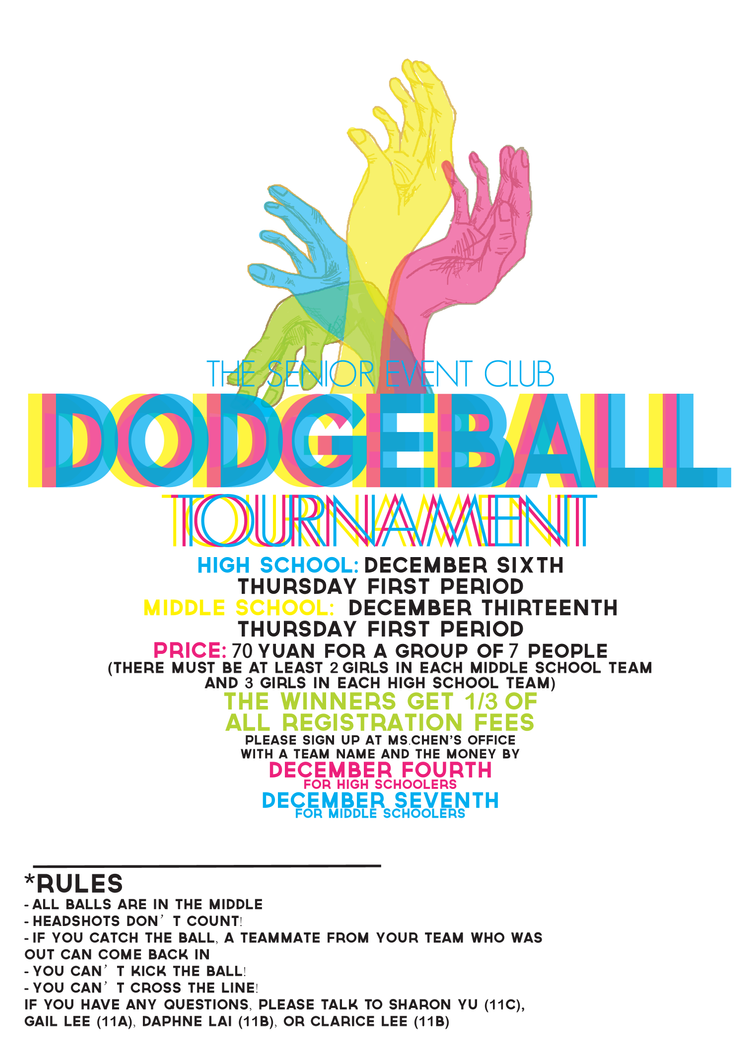 Dodgeball Tournament Poster by TheSharonYuDodgeball Tournament Poster