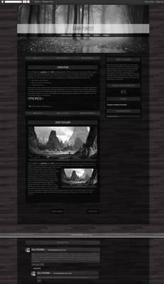 Blogspot template Dark Forest