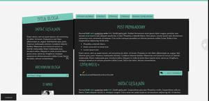 Blogspot template Minimalist by Halucynowaaa