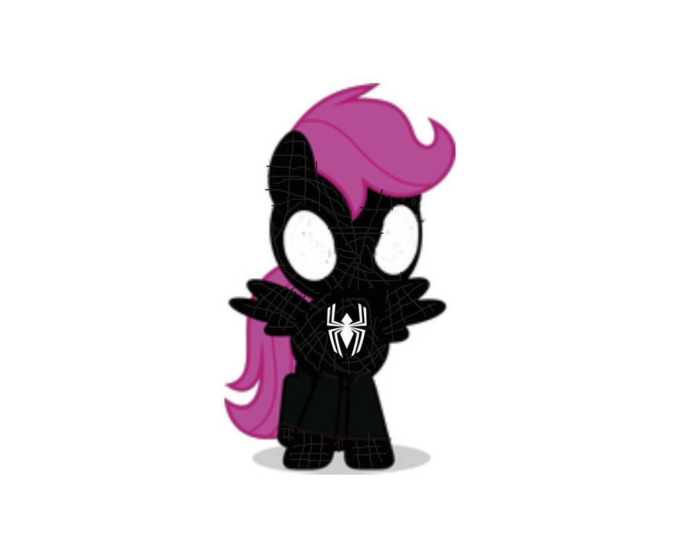 Spectacular Black Spider Filly
