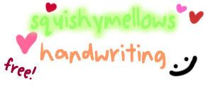 squishymellows_handwriting by squishymellows