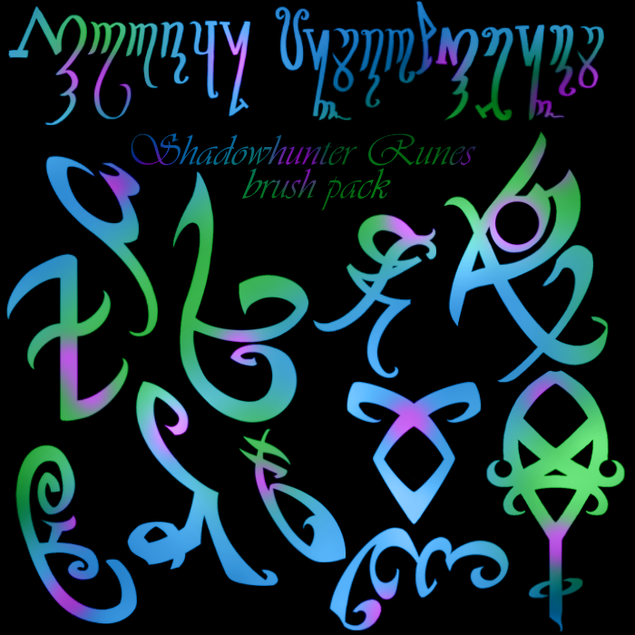 Shadowhunter Runes Brush Pack By Reachforthestarfish On Deviantart