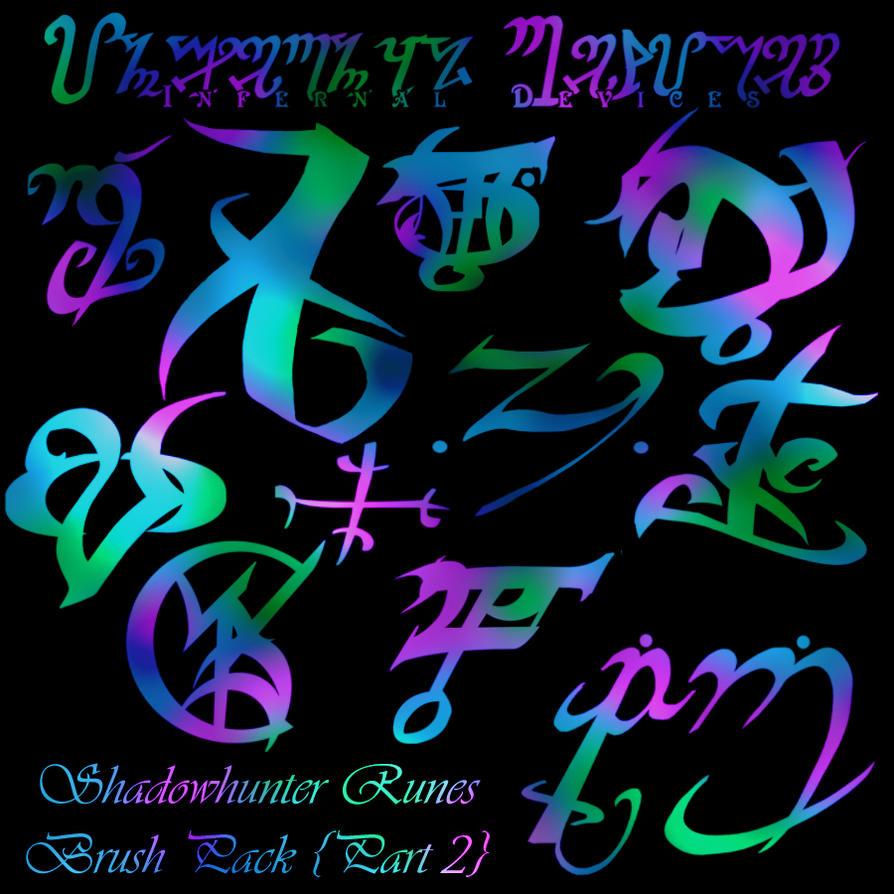 Shadowhunter RUNES Brushes II by ReachForTheStarfish