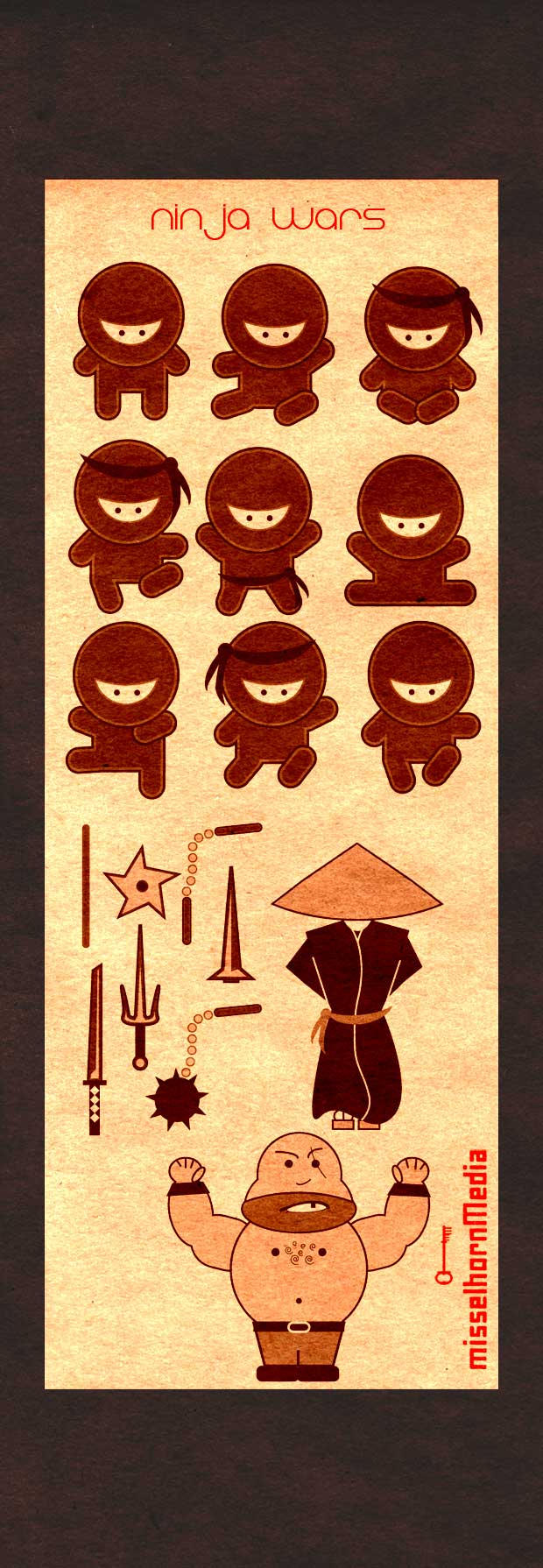 Photoshop Brush Ninja Wars by cwylie0