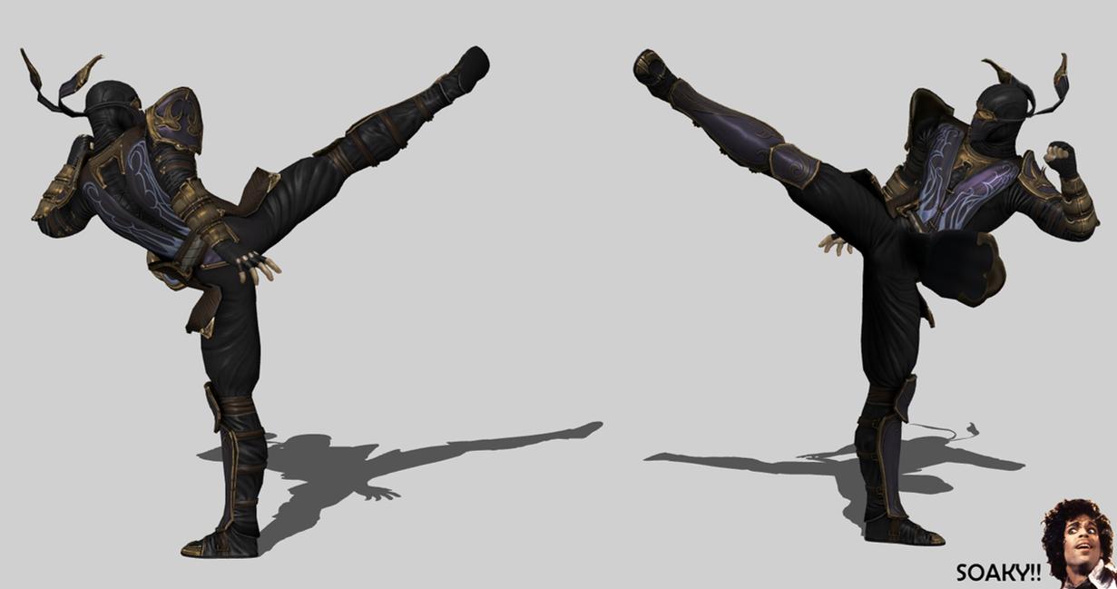 Mortal Kombat 9 - Rain's Infamous Roundhouse Kick! by ...