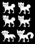 Chibi canine lineart [F2U]
