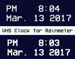 VHS Clock for Rainmeter