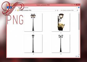 PNG PACK (13) STREET LAMP