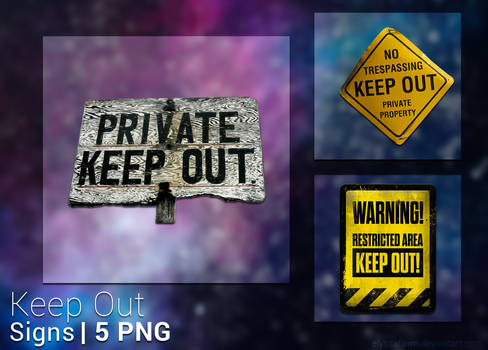 PNG PACK (22) KEEP OUT SIGNS