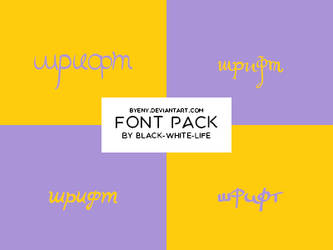 Fonts Pack 9 By Black-white-life by ByEny