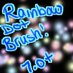 Rainbow Dot Brush by sukoshineko