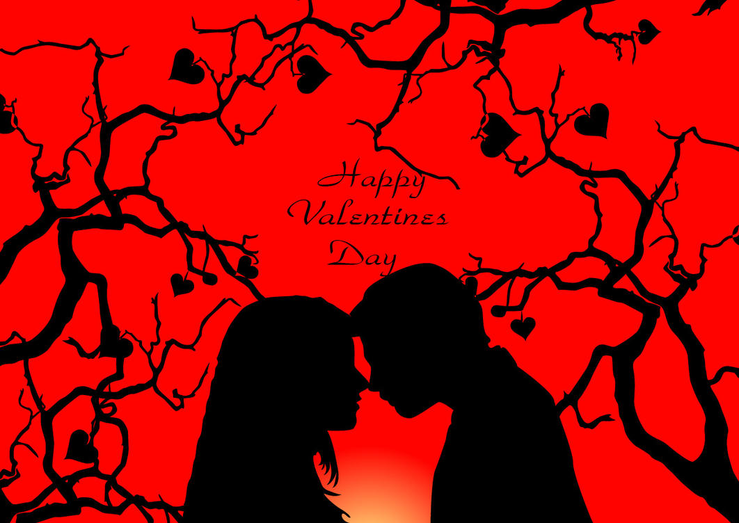 Loving Couple Valentine Greeting Card By Nousin On Deviantart