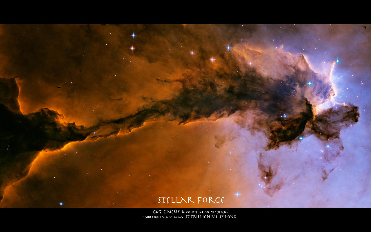 Stellar Forge: Eagle Nebula by MadqaZ
