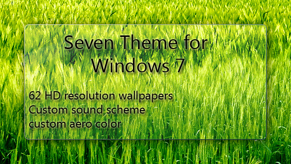 Seven Theme for Windows 7 by sevenalive
