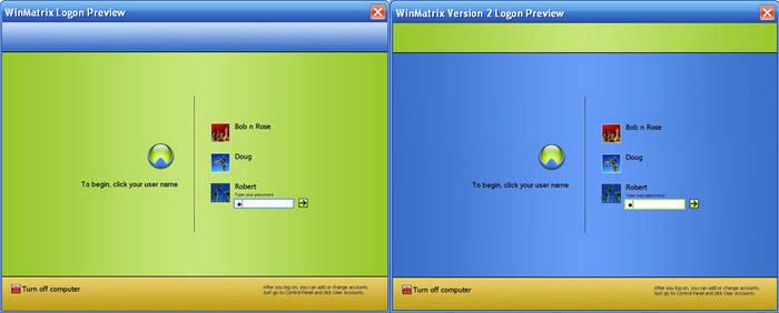 WinMatrix Logons
