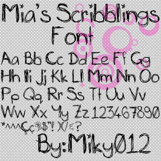 [Download]Mia's Scribblings Font Mia__s_scribblings_font_by_miky012-d4l756b