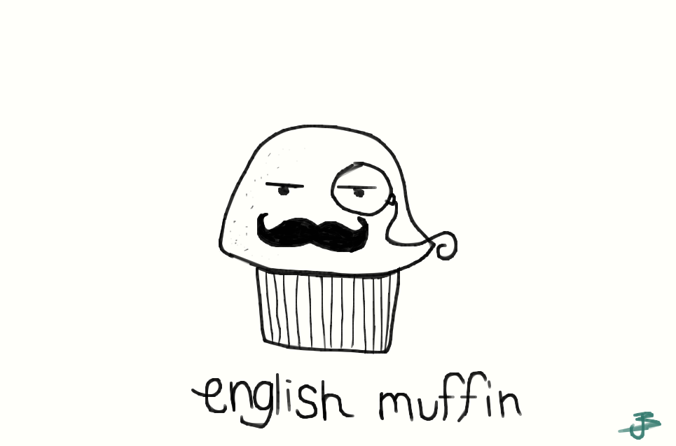English muffin by jayriddles on deviantart for Crazy stuff to draw