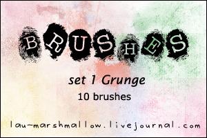 Grunge Brushes by LaU-marshmallow