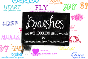 Little Words Brushes by LaU-marshmallow