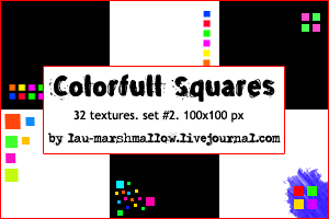 Colorful Squares by LaU-marshmallow