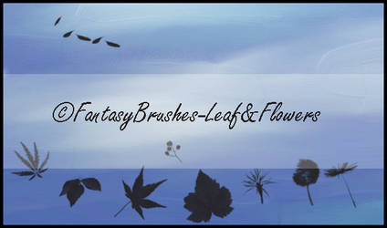 Leaf and Flowers by FantasyBrushes