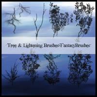 Tree and Lightening Brushes