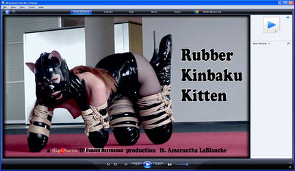 Rubber kinbaku kitten - video preview by ropemarks