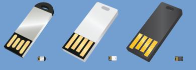 Slim Flash Drives Icons by alexiy777