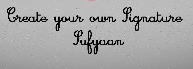 Create your own Signature by Sufyaan7 on DeviantArt