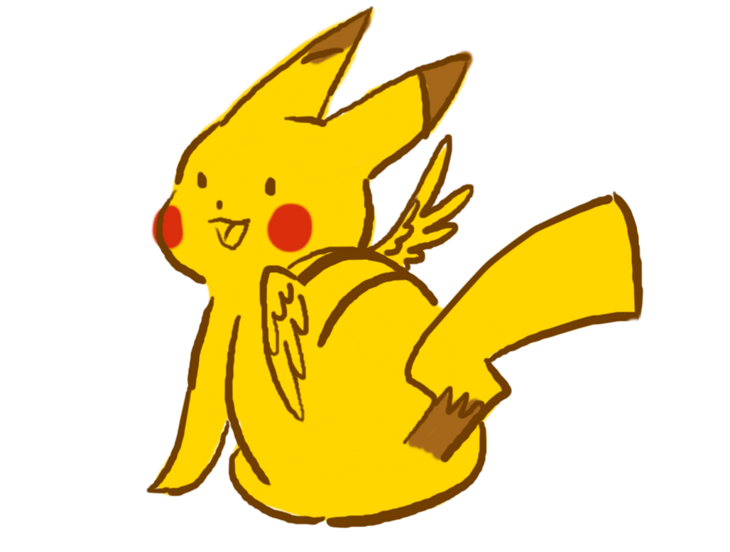 A Winged Pikachu Appeared by bloominglove