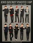 EXO SECRET PHOTO png pack 10P