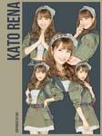 AKB48 Kato Rena 5P png by hyukhee05