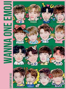 WannaOne Emoji 16P png