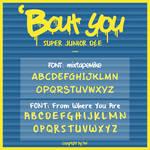 SUPER JUNIOR DnE BOUT YOU Font