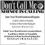 SHINee Don't Call Me font