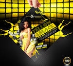 Yellow and Black Party Flyer Free PSD