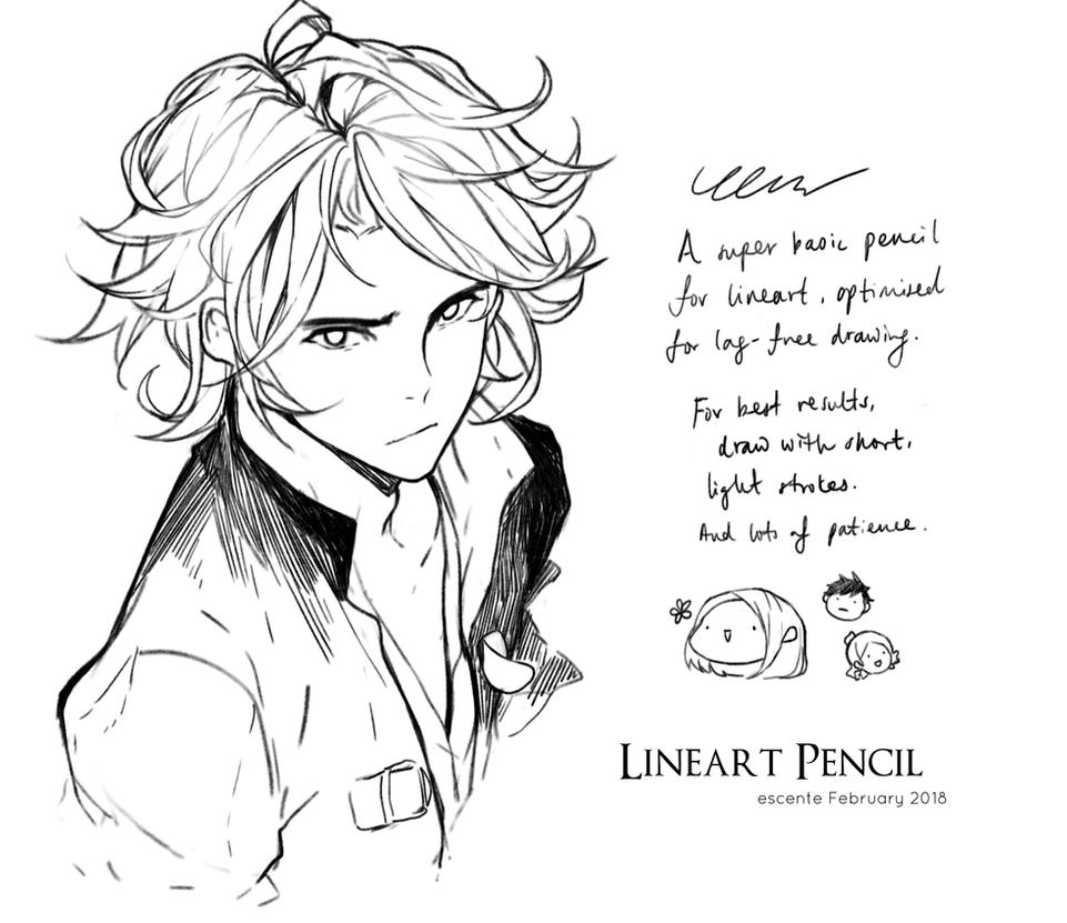 Line Art Studio Serpong : Lineart pencil for clip studio paint by escente on deviantart