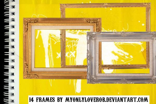 14 Frames in PNG by myonlyloverob