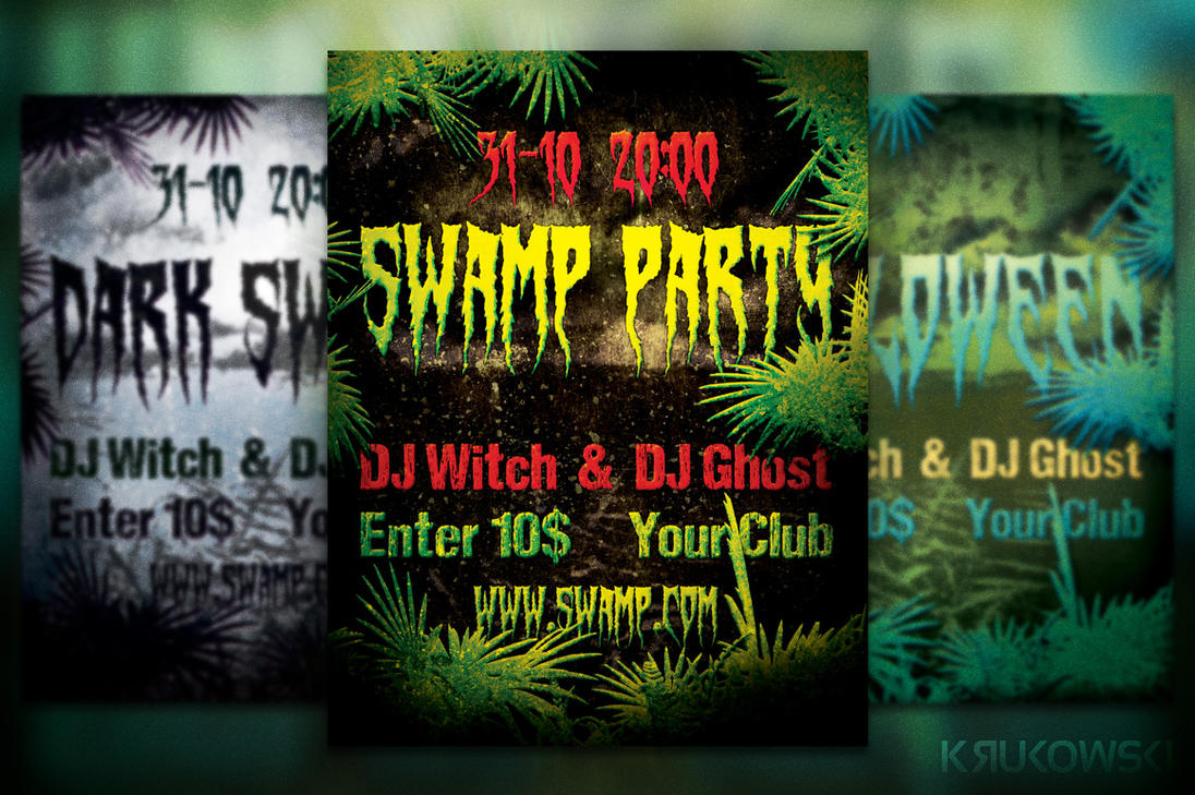 Free Swamp Flyer/ Poster by mkrukowski