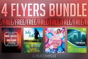 Free Flyer Templates Bundle by mkrukowski