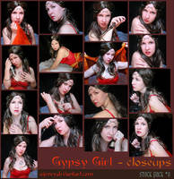 Gypsy girl closeups - stock 9 by MJWilliam