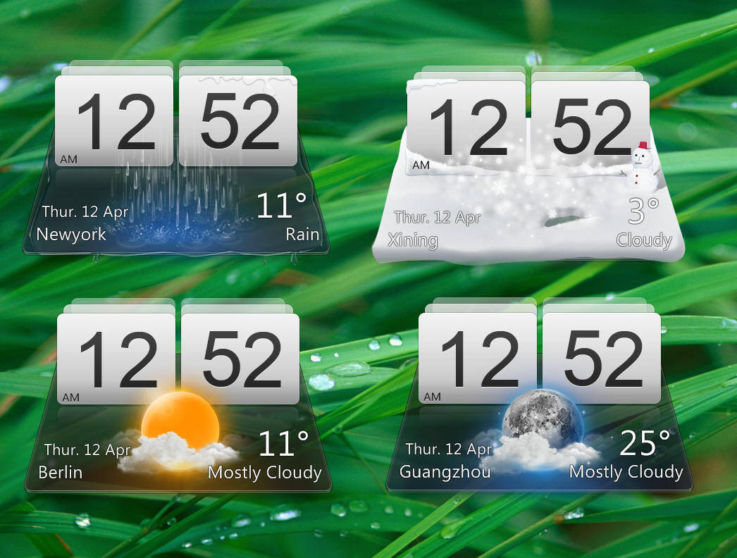 MIUI Weather for XWidget by pigboat