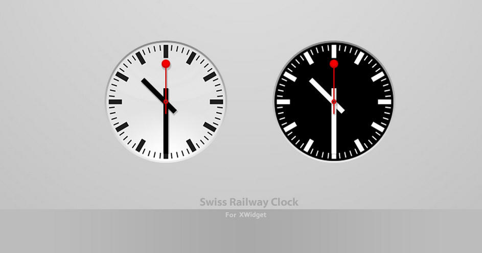 Swiss railway clock for xwidget by pigboat on deviantart - Swiss railway wall clock ...