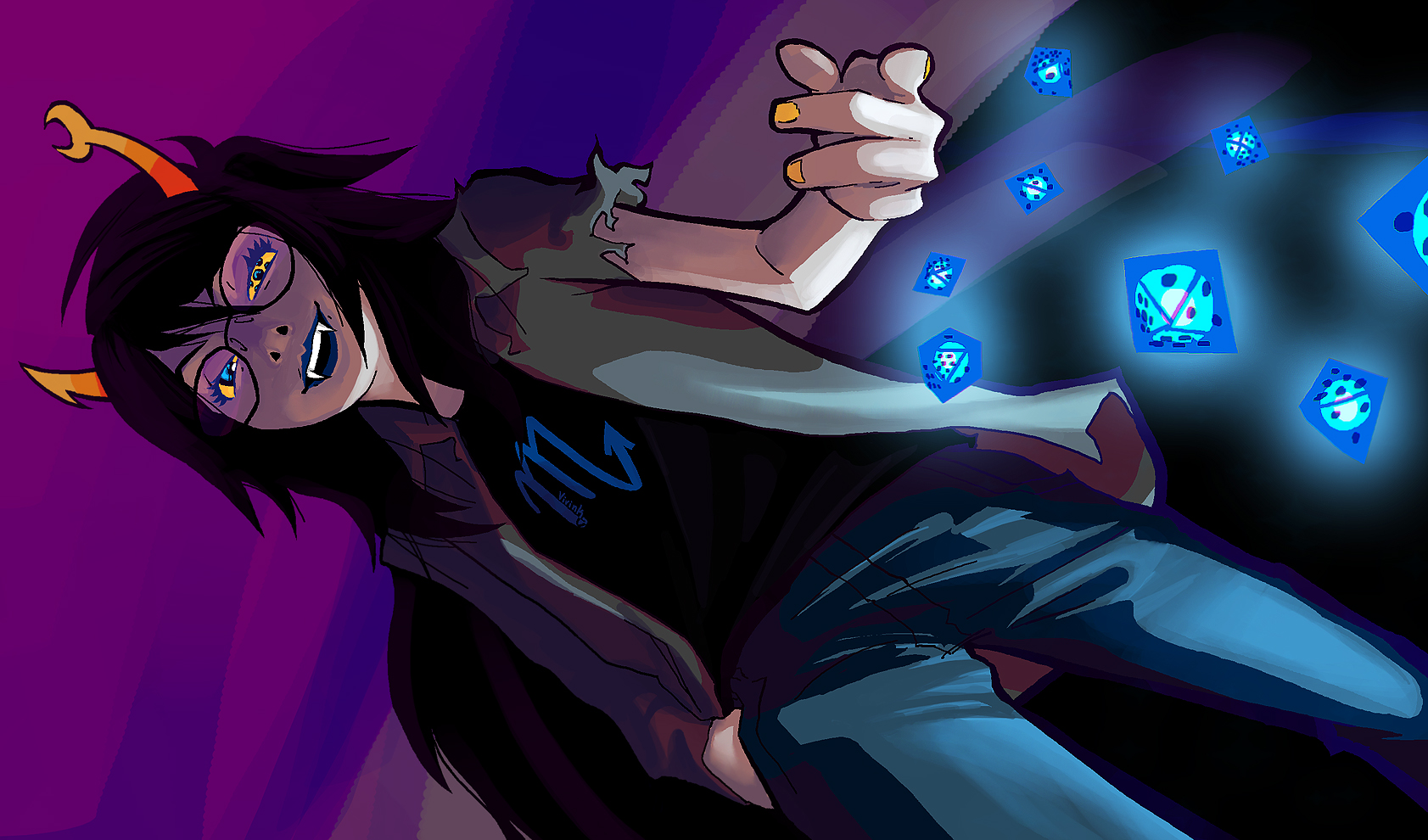 Vriska Wallpaper 1366x768 Vriska on HomestuckXRe...