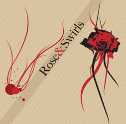 Rose and Swirls vector by shankonator