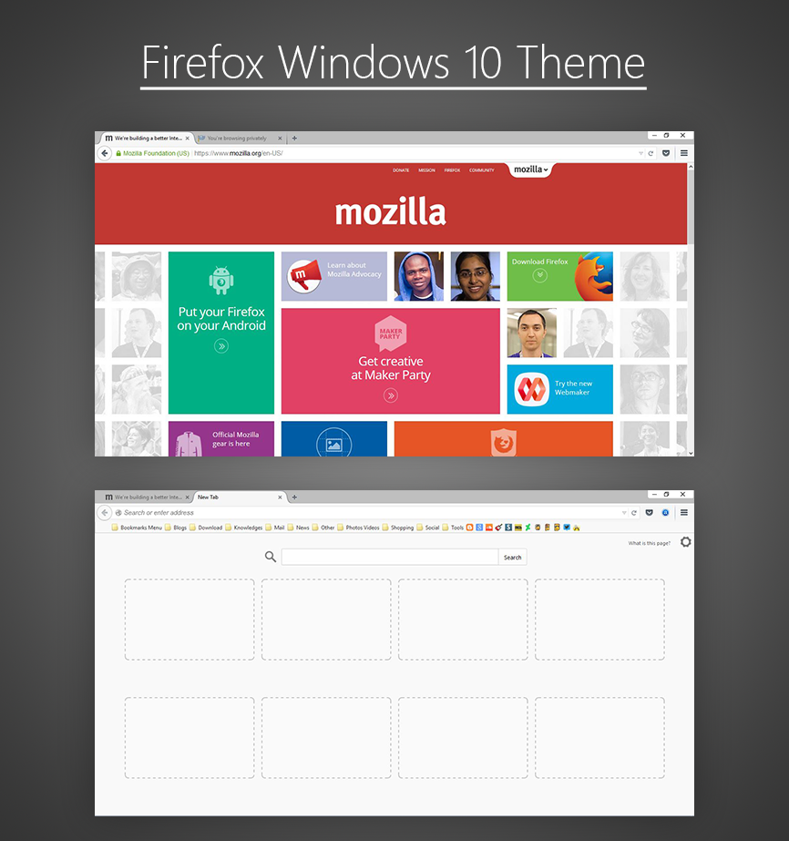Windows Xp Theme File Software: Firefox Windows 10 Theme By Zz133zz On DeviantArt
