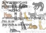 Ultimate Warriors Allegiance Lineart Multipack