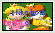 Peach and Daisy Stamp by SonicandLemmyFan